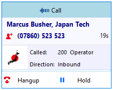 Call information example