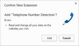 Add Chrome extension confirmation