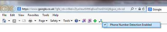 Internet Explorer Command Bar